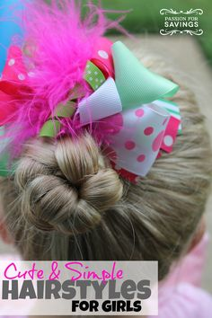 Check out these Cute & Simple Back to School Hairstyles! Perfect for first day or school, picture day or any day!