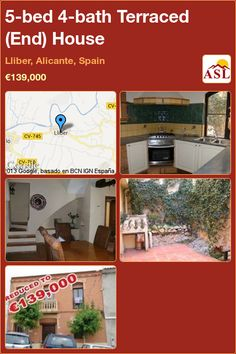 Terraced (End) House for Sale in Lliber, Alicante, Spain with 5 bedrooms, 4 bathrooms - A Spanish Life Independent Kitchen, Juliet Balcony, Small Terrace, Wooden Front Doors, Alicante Spain, Plunge Pool, Double Bedroom, Lounge Areas, Car Parking