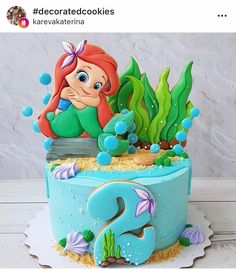 Dolphin Birthday Cakes, Baby Birthday Cakes, Biscuits, Cupcakes, Cupcake Cakes, Ariel Cake, Fab Cakes, Beautiful Birthday Cakes, Baby Girl Cakes