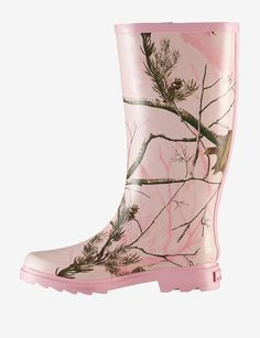 Realtree® Pink Camo Rain Boot
