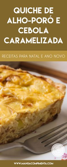 Leek and Caramelized Onion Quiche for the New Year. - Leek and Caramelized Onion Quiche Recipe – a delicious pie for the New Year& Eve parties. Onion Quiche Recipe, Quiche Recipes, Vegan Breakfast Recipes, Healthy Dessert Recipes, Vegetarian Recipes, Quiches, No Salt Recipes, Light Recipes, Easy Cooking