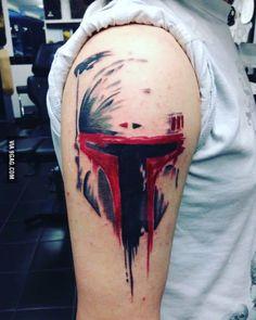 Boba Fett shoulder tattoo