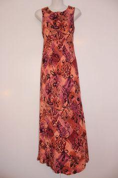 Ruffled hem hawaiian maxi dress