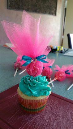 Trolls Theme cupcakes