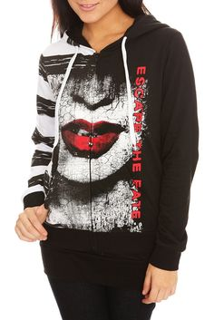 Escape The Fate Dying Is Your Latest Fashion Girls Zip Hoodie For ...