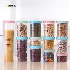 Cheap grain container, Buy Quality sealed food containers directly from China food storage containers plastic Suppliers: 1PC Wheat Straw Plastic Food Sealed Crisper Grain Container with Scale Kitchen Food Organizer Storage Boxes OK 0443