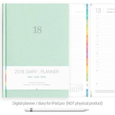500 pages Digital Planner 2018 for GoodNotes Colorful tabs