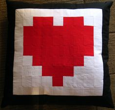 Pixelated patchwork <3 cushion by Voodoorabbit on Flickr
