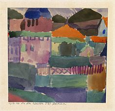 'The Houses of St. Germain', 1914, Paul Klee, watercolor on paper