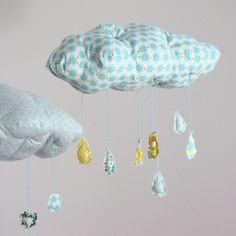 Rain cloud mobile.