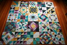 Such pretty colors - and I love a quilt made out of different blocks