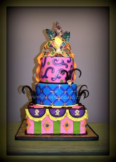 Venetian masquerade birthday cake, by Sandra's Cakes