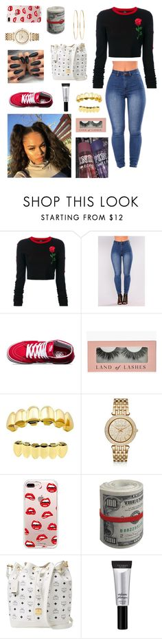 """""""Untitled #691"""" by kylaagotfans ❤ liked on Polyvore featuring County Of Milan, Vans, Michael Kors, Steve Madden, MCM, Beauty Rush and Jennifer Meyer Jewelry"""