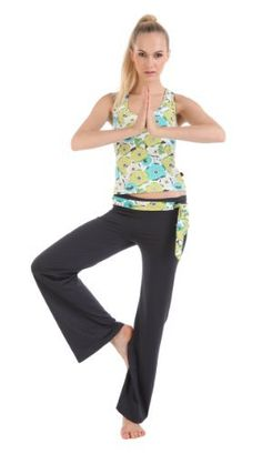 Yoga fitness Workout Sportswear suits 2sets-Green print or Red(sexy Long Yoga Vest+Yoga Pants) Colorfulworldstore. $38.99