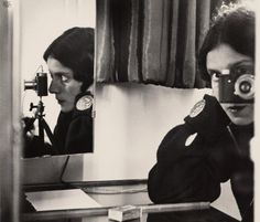 Ilse Bing (United States of America, Germany 1899-1998)  Self portrait with Leica  1931 printed 1941  gelatin silver photograph