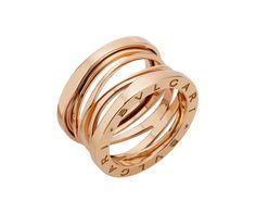 B.zero1 Design Legend four-band ring in pink gold | Bulgari