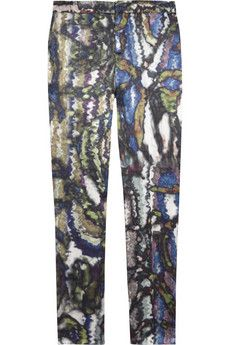 Theyskens' Theory abstract print pants