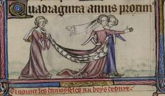 The Lady. (The Taymouth Hours) margin. c1350 Eng. Yates Thompson 13 Brit. Lib. | Flickr - Photo Sharing!