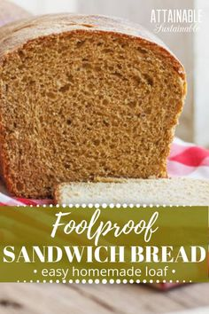 Homemade Sandwich Bread Recipe: An Easy, Foolproof Loaf Try this homemade sandwich bread recipe; you'll be surprised how easy it is. Use it for lunchtime sandwiches or toast it and spread on your favorite jam. Homemade Sandwich Bread, Easy Keto Bread Recipe, Best Keto Bread, Sandwich Bread Recipes, Lowest Carb Bread Recipe, Low Carb Bread, Homemade Breads, Keto Bread Coconut Flour, Keto Banana Bread