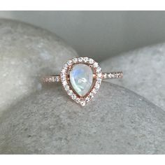 Rainbow Moonstone Engagement Ring- Rose Gold Wedding Ring- Moonstone Promise Halo Ring- June Birthstone Ring- Solitaire Gemstone Ring-Rainbow Moonstone Engagement Ring- Rose Gold Wedding Ring- Moonstone Promise Halo Ring- June Birthstone Ring- Solitaire Gemstone Ring and other apparel, accesso...