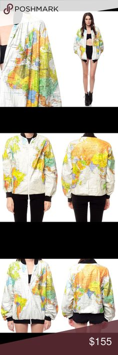 World map jacket tyvek size xl 1980s windbreaker wearin the world rare vintage 90s map bomber jacket ussr same exact tyvek map bomber jacket that kurt cobain wore on tour with nirvana gumiabroncs Choice Image