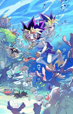 Tags: Anime, Fanart, Yu-Gi-Oh!, Yami Yugi, Kaiba Seto Are those. XD and a starfish that looks like yugi hair Yu Gi Oh, All Anime, Anime Love, Manga Anime, Anime Art, Anime Stuff, Yugioh Yami, Fanarts Anime, Anime Shows