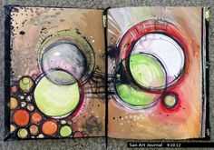 .Art Journal 9 by *San-T - Circles!!!! (Go to her website, there are several beautiful pages of her Art Journal)