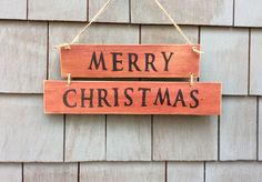 Merry Christmas rustic sign by HomesteadDesign on Etsy