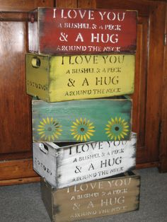Wooden Crate Boxes  w/ Plastic Tub Liner by DownhomeCraftByDiane, $20.00