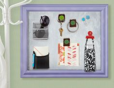 How to turn frames into magnetic boards for #organizing.