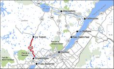 Route 155 Jacques Cartier, Malbaie, Trois Rivieres, Routes, Top 5, Quebec, Canada, Passion, Map