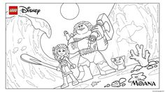 Print  MoanaTribute Moana Movie trailer lego disney coloring pages
