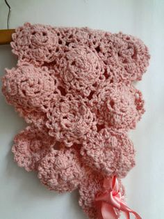 crocheted baby shrug and beret
