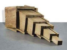 David Nash - Extended Cube, 1986, elm wood on MutualArt.com