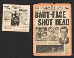 "1920's-1930's Newspapers (4) with ""Valentine's Day Massacre,"" ""Al Capone,"" ""Baby Face Nelson"" and ""Clyde Barrow"" Headlines"