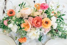 Dreamy flowers  Read More: http://www.stylemepretty.com/living/2014/07/03/gold-dotted-floral-baby-shower/
