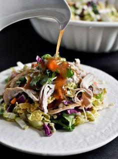 Thai Crunch Chicken Salad I howsweeteats.com