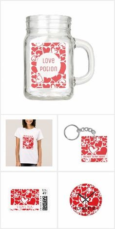 Collection of gifts for her or him. Ideas for Valentine's day or all over the year to  say I love you to your sweetie. Cute and romantic gifts with customizable texts