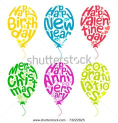 Colour beautiful party balloons Free vector for free download ...