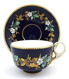 Royal Crown Derby Cobalt Enameled Tea Cup & Saucer (item You are able to enjoy break fast or various time intervals using tea cups. Tea cups likewise have ornamental features. When you look at the tea glass versions, you will dsicover this clearly. Antique Tea Cups, Vintage Teacups, Royal Crown Derby, Teapots And Cups, China Tea Cups, My Cup Of Tea, Objet D'art, Tea Cup Saucer, Tea Party