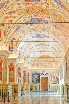 Vatican Museum rome italy via flickr. The thing I found most surprising about this museum was no air conditioning and wide open windows. Uncontrolled climate! but it seems to have done the priceless frescoes no harm.