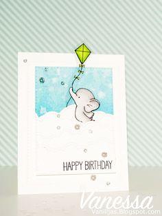 Birdie Brown Adorable Elephants stamp set and Die-namics - Vanessa Amann