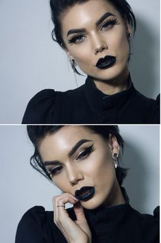 48 ideas eye shadow black linda hallberg for 2019 Goth Makeup, Dark Makeup, Skin Makeup, Eyeshadow Makeup, Makeup Brushes, Beauty Makeup, Black Lipstick Makeup, Pink Eyeshadow, Makeup Geek