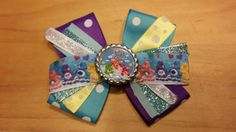 Care Bears Hair Bow bow 1 by HandGCrafts on Etsy