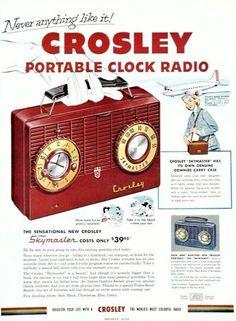 Radio portable Crosley, 1953.