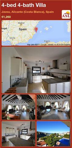 4-bed 4-bath Villa in Javea, Alicante (Costa Blanca), Spain ►€1,260 #PropertyForSaleInSpain