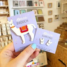 These Alpaca earrings and brooch by @jayneymacs Are just too cute there's a range of wildlife inspired jewellery in store! Perfect for summer . . . #alpaca #llama #llamalover #alpacalover #alpacapin #llamapin #llamaearrings #alpacajewellery #lovellamas #llamas #alpacas #handmadenottingham #handmade #shophandmade #shoplocal #shopindependent #madeinnottingham #nottinghamdesigners #nottingham #itsinnotts #nottinghamindependents