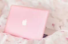 pink mac laptop