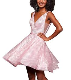 V Neck Short Homecoming Dresses Sequin A-line Beaded Tulle Junior Formal Prom Dress Gown Junior Prom Dresses, Hoco Dresses, Backless Prom Dresses, Tulle Prom Dress, Sequin Dress, Homecoming Dresses, Bridesmaid Dresses, Club Dresses, Party Dresses