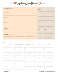 Get ready for the holidays with this Thanksgiving Meal Planner printable! #Thanksgiving #printable